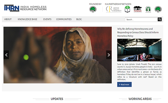 India Homeless Resource Network